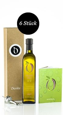 Gourmet for Christmas REINE Olive no 1 – 6 x 0.5 Liter bottle as gift box