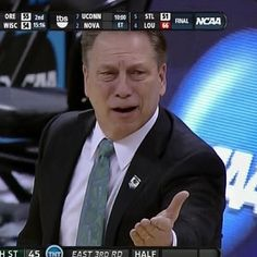 When someone does something that's ridiculous.  Hit them with the Tom Izzo face #imfine #Padgram