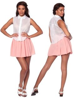 Chiffon Double-Layered Shirred Waist Skirt | Shop American Apparel - StyleSays