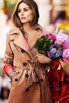#Trenchcoat #Flowers #OliviaPalermo