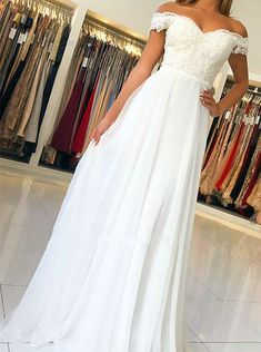Buy Off-the-Shoulder Chiffon Long Prom Dress With Beading Appliqued,school event dress,prom evening dress,party dress Formal Dresses For Weddings, Event Dresses, Prom Party Dresses, Formal Evening Dresses, Dress Prom, Maxi Dresses, Wedding Dresses, Tutu En Tulle, Chiffon Dress Long