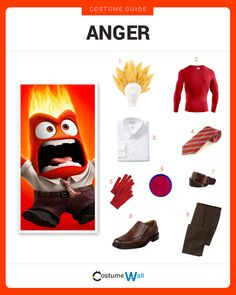 Dress Like  Anger from Inside Out. See more Anger costumes and cosplays from Costume Wall.