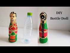 How to make plastic bottle doll - Skill Flair-Easy Craft Waste Bottle Craft, Plastic Bottle Crafts, Diy Bottle, Wine Bottle Crafts, Recycle Plastic Bottles, Life Hacks, Plastic Doll, Easy Diy Crafts, Kid Crafts