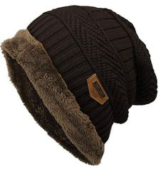Voiks Gorro de Invierno Unisex Crochet Gorro de Punto Flexible de Lana  Hilar Beaniecasquillos Calientes para 84bccf3fe45