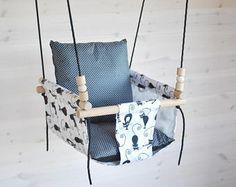 Bébés et tout-petits Swing Swing / noir Swing blanc / pépinière Swing / Swing intérieur/extérieur Swing / coton lin tissu Swing / hamac Swing