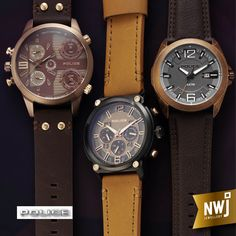 NWJ stock a wide range of the Italian watch brand, Police.