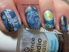 This nail wraps is inspired by Van Gogh's painting. You can enjoy the amazing review here>>http://nailcrazy69.blogspot.com/2015/07/van-goghs-starry-night-on-nails.html.