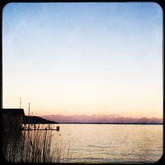 First swim in lake Starnberg this summer. Swim was cold but view rewarding.  #soultravels #outdoorgirl #adventuregirl #mindful #munichandthemountains