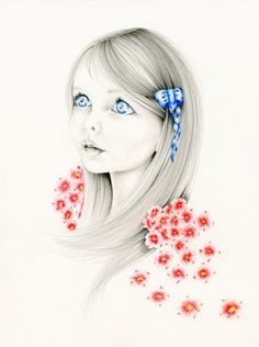 Custom Portrait Whimsical Fantasy Portrait an Original Pencil Drawing Illustration Fine Art