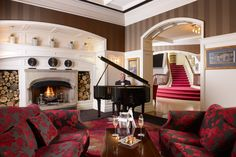 The Tinkling of the Ivories is a welcome sound in the luxurious lobby #killarneyparkhotel #luxury #leadinghotels
