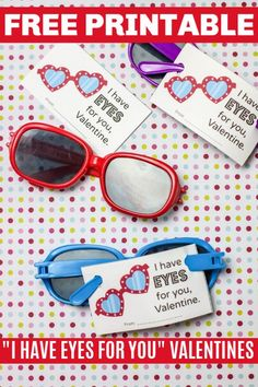 """Free printable sunglasses valentines for boys or girls. Each Valentine's Day card says, """"I Have Eyes for You, Valentine"""". Perfect for class parties. Mint Chip Ice Cream, Keto Ice Cream, Banana Carrot Muffins, Chocolate Panna Cotta, Sugar Free Mints, Pumpkin Custard, Strawberry Mousse, Valentine Desserts, Low Carb Cheesecake"""