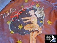 WWII US Army Air Force Nose Art Pin up Hand Painted Flight Jacket A-2