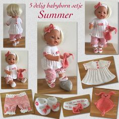 Knitting Dolls Clothes, Doll Clothes Patterns, Clothing Patterns, Crochet Dolls Free Patterns, Baby Knitting Patterns, Baby Born Clothes, Dolly Fashion, Barbie, Baby Blanket Crochet