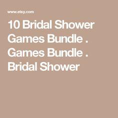 10 Bridal Shower Games Bundle . Games Bundle . Bridal Shower