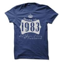 Made In 1983 - 32 Years Of Being Awesome!! Cheap Hoodie 2015