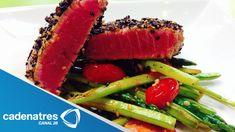Receta de Filete de atún sellado / Receta de cómo preparar Filete de atú...