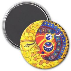 Medilludesign Moon planets Magnet - diy cyo customize create your own personalize