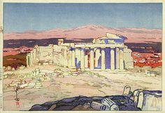 Acropolis, Day by Hiroshi Yoshida, 1925