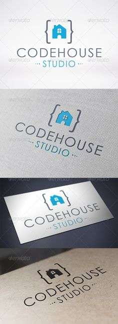 Code House Logo Template - Buildings Logo Templates