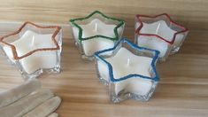Custom scented candles star shaped glass candle holders for home decor a... Glass Candle Holders, Candle Jars, Star Candle, Christmas Candles, Star Shape, Scented Candles, Glass Jars, Shapes, Gifts