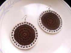 https://flic.kr/p/c18km9 | Tribal Edged Circle Crochet Earrings