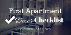 You're in your very own new apartment?! Make sure your decor is divine with our handy dandy checklist!!