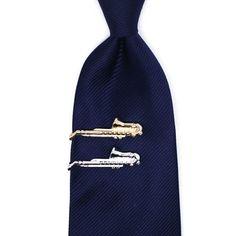Unique Copper Saxophone Men Tie Clip Bar Necktie Pin Clasp Clamp Gift
