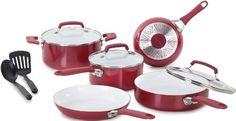 WearEver C943SA64 Pure Living Nonstick Ceramic Coating PTFE-PFOA-Cadmium Free Dishwasher Safe 10 Piece Cookware Set, Red WearEver,http://www.amazon.com/dp/B00BT15QK8/ref=cm_sw_r_pi_dp_ha5Btb0Z9ESQ1ETM