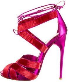 Tom Ford Sandals on shopstyle.com Metallic High Heels, Red High Heel Shoes, Metallic Sandals, Stiletto Shoes, Shoes Heels, Velvet Shoes, Red Velvet, Tom Ford Shoes, Red Sandals