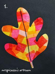 mrspicasso's art room: Warm & Cool Swirling Leaves