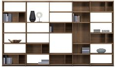 Contemporary bookcase / MDF / custom MEDA by Morten Georgsen BoConcept