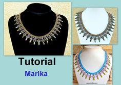 Tutorial Marika SuperDuo Necklace PDF by Lirigal on Etsy, $11.00