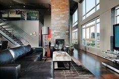 A Bauhaus influenciando até hoje a arquitetura e o design de interiores - projeto recente de loft em Sacramento, Califórnia, realizado pelos designers do Benning Design Associates. #camilakleinarquiteta #bauhaus #loft #minimalismo #architecture #arquitetura #inspiração