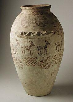 decorated predynastic vessel 5500-3050 bc