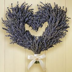 Lavender heart wreath www.tablescapesbydesign.com https://www.facebook.com/pages/Tablescapes-By-Design/129811416695