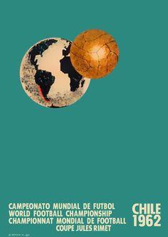 Cartel oficial del campeonato mundial de futbol de Chile 1962 - Official poster of the football World Championship Chile 1962