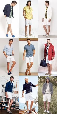 Men's Summer Essentials: White Legwear - Shorts Lookbook Inspiration