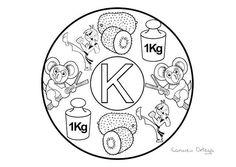 Mandalas del abecedario para colorear: Letra K