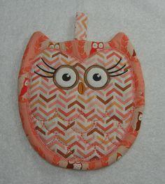 Designer Owl Pot Holder Hot Pad Kitchen Owl Ready by OwlTakeThat, $10.00