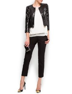 This outfit is just enough edge...Sequins - click through to purchase! $99