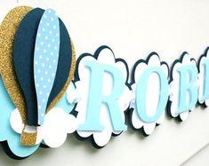 Banner de globo de aire caliente Oh los lugares que él irá | Etsy