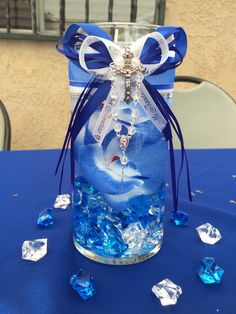 Boy baptism center piece