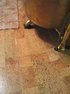 Cork Flooring in the Bathroom -- Gotta remember to do more research on this!