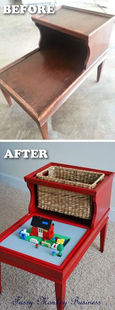 20 Creative Furniture Hacks -- DIY lego table!!