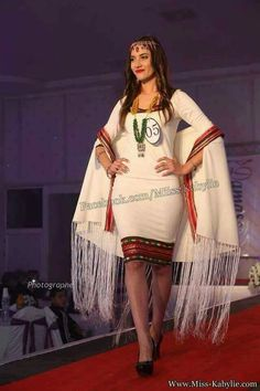 Robe Traditionnelle Algérienne, Robe Berbere, Robe Kabyle Moderne, Kabyles,  Broderie Marocaine,