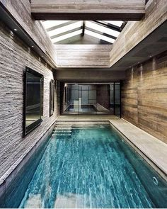 Indoor Swimming Pool Ideas - You want to build a Indoor swimming pool? Here are some Indoor Swimming Pool designs and ideas for you. Small Inground Swimming Pools, Swimming Pool Tiles, Swiming Pool, Luxury Swimming Pools, Luxury Pools, Swimming Pools Backyard, Swimming Pool Designs, Lap Swimming, Jacuzzi