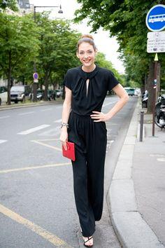 Paris Fall Couture Fashion Week Street Style - everything Giorgio Armani