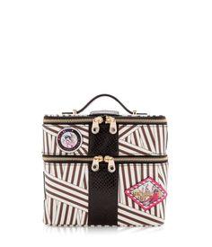 disturbed stripe train case - travel accessories - designer travel gear $178