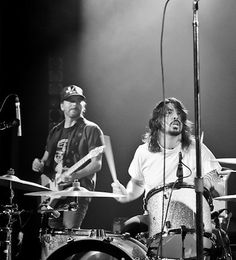 Eddie Vedder and Dave Grohl