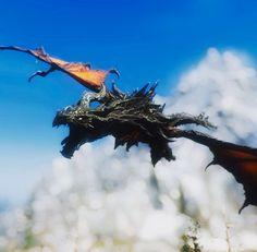 Alduin approaches Elder Scrolls Oblivion, Skyrim Mods, Hand Molding, Games, Dragons, Gaming, Plays, Game, Toys